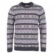 övik folk knit sweater, dark grey, l,  fjällräven