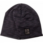 Microfleece Ponytail Hat, Black Melange, Onesize,  Craft