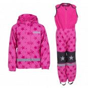 snowflake rainset jr, pink/dk pink, 100,  regnkläder