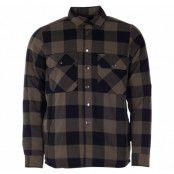 Övik Padded Shirt, Dark Olive, L,  Tuxer