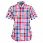 övik shirt ss w., neon red, m,  skjortor