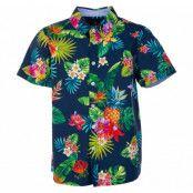 Hawaii Shirt Jr, Navy Jungle Pineapple, 100,  Blount And Pool