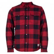 m campshire shirt, cardinalredbufflbllpldprt, l,  the north face