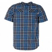 M S/S Pine Knot Sht, Blue Wing Teal Plaid, L,  The North Face